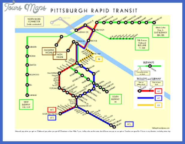 schematic pittsburgh rapid transit 2 Pittsburgh Subway Map