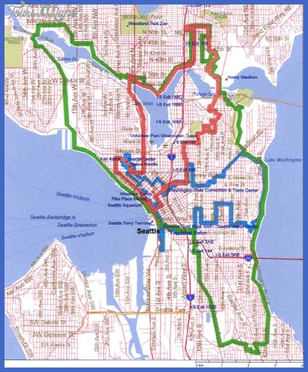 seatours Seattle Map Tourist Attractions