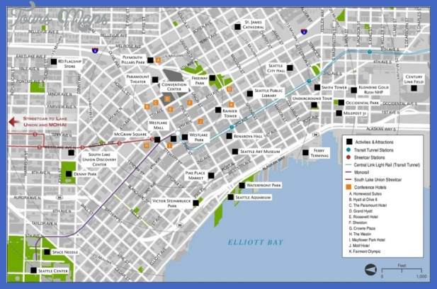 seattle tourist attractions map max Jacksonville Map Tourist Attractions