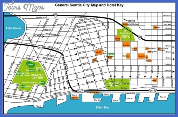 Seattle Map Tourist Attractions ToursMapsCom – Seattle Tourist Attractions Map
