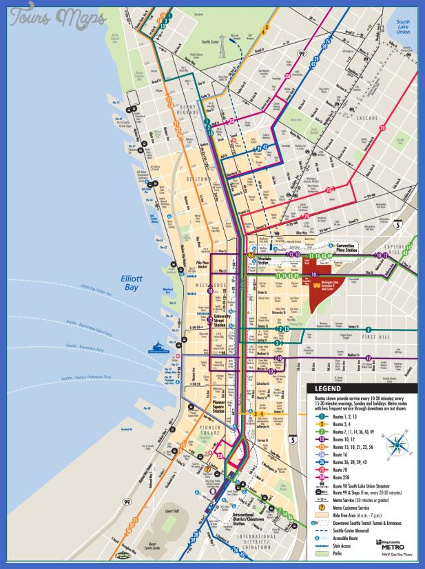 seattle downtown metro map Seattle Metro Map