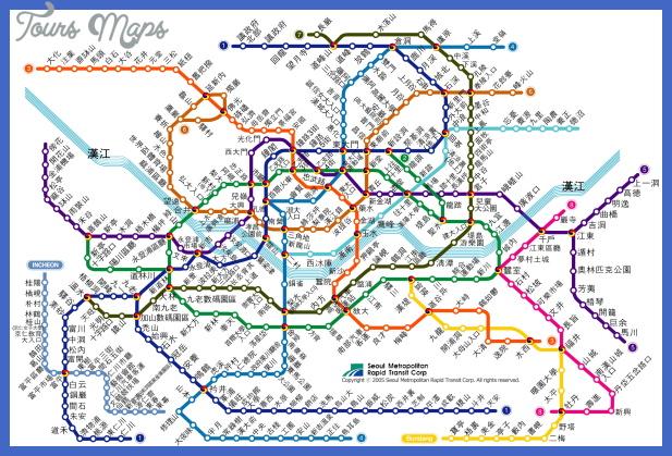 seoul subway chinese fanti South Africa Subway Map