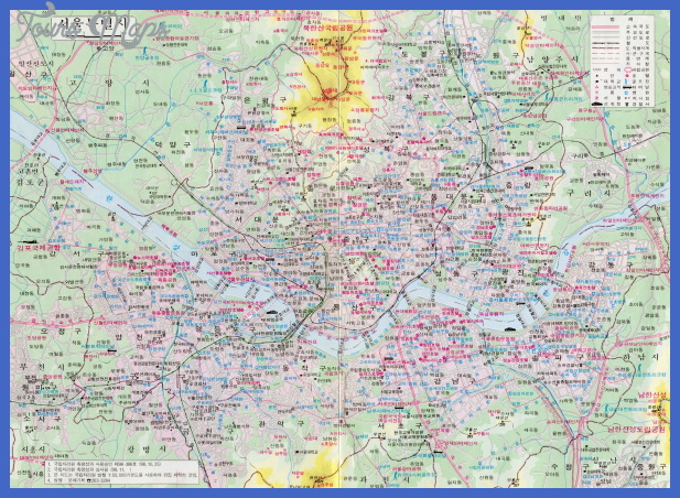 seoul tourist map coreen Tunisia Subway Map