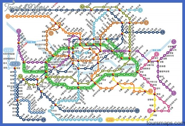 Eoul Subway Map.Seoul Metro Map Toursmaps Com