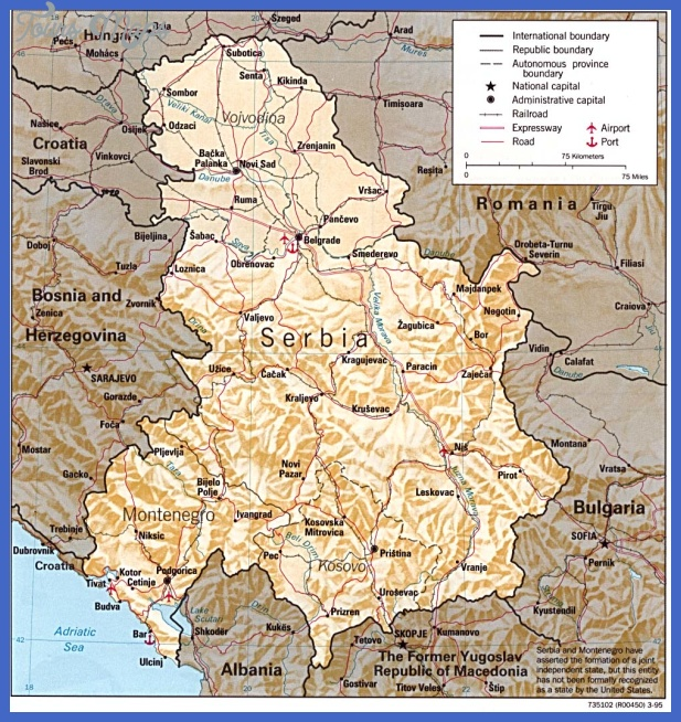 serbia Serbia Map Tourist Attractions