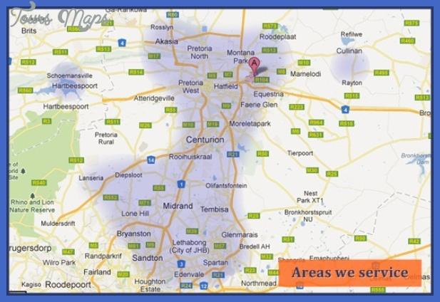 service area map Johannesburg East Rand Map