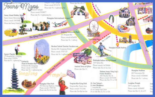 shanghai map tourist attractions  11 Shanghai Map Tourist Attractions