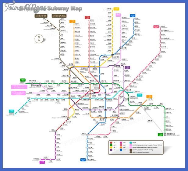 shanghai subway map  2 Shanghai Subway Map