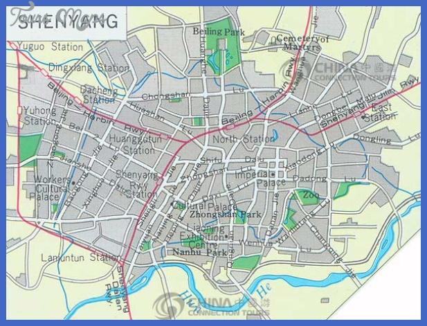 shenyang city map Shenyang Map Tourist Attractions