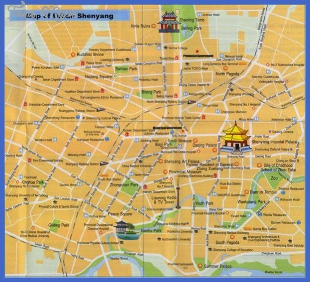 shenyang map tourist attractions  0 Shenyang Map Tourist Attractions