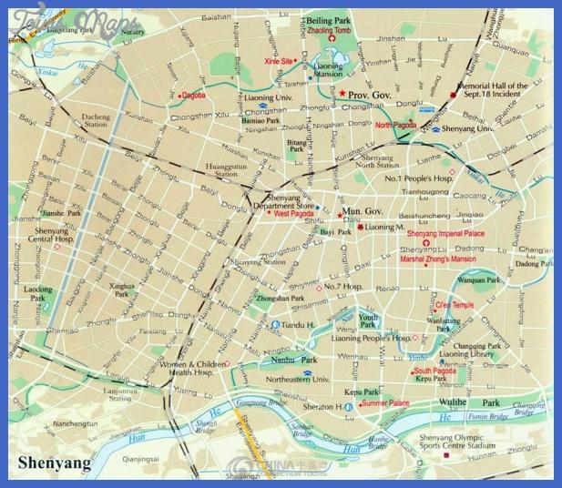 shenyang map tourist attractions  1 Shenyang Map Tourist Attractions