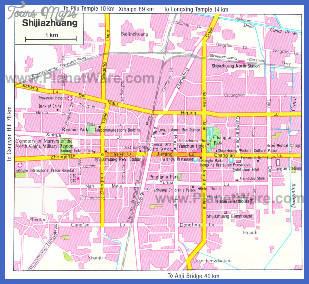 shijiazhuang map tourist attractions  1 Shijiazhuang Map Tourist Attractions