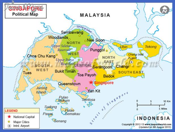 singapore map 800 Singapore Map