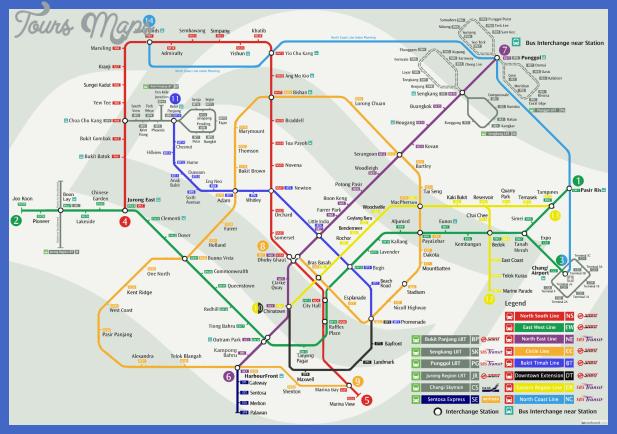 singapore mrt map Singapore Map