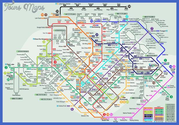 singapore subway map  0 Singapore Subway Map