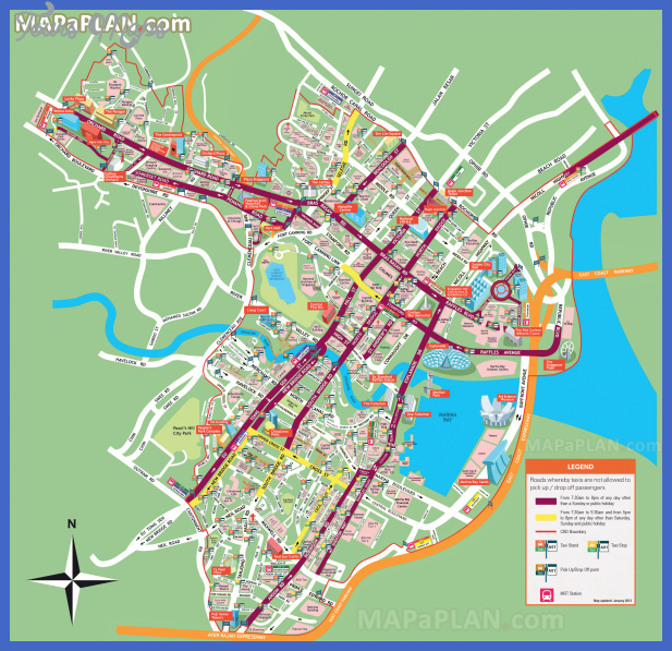 singapore top tourist attractions map 01 city centre must see places to visit detailed street travel plan high resolution Baku Sumqayit Map Tourist Attractions