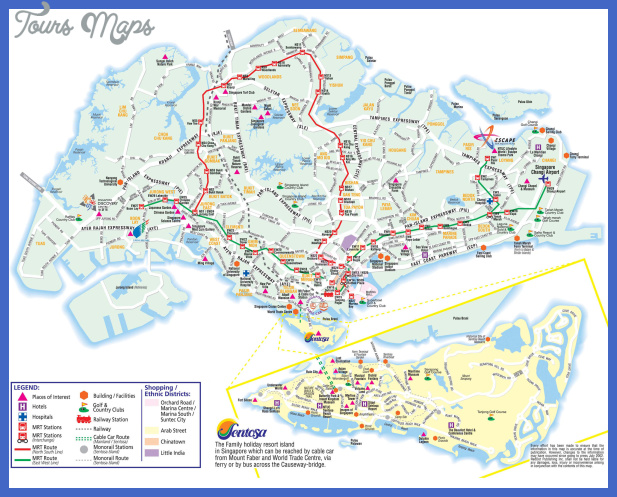 singapore tourist map Singapore Map Tourist Attractions
