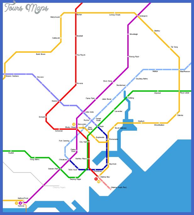 singapore Singapore Subway Map