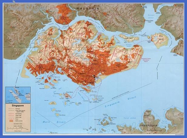 singaporeb Singapore Map