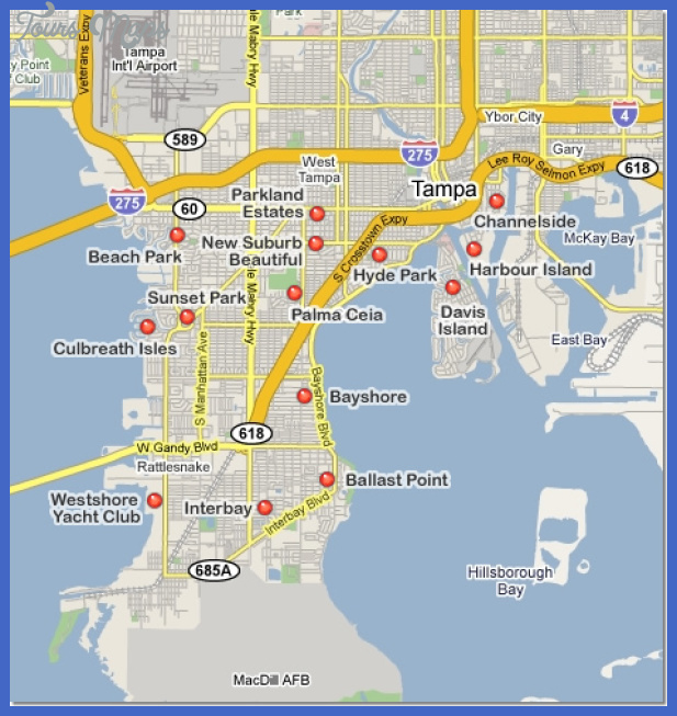 south tampa map Tampa St. Petersburg Metro Map