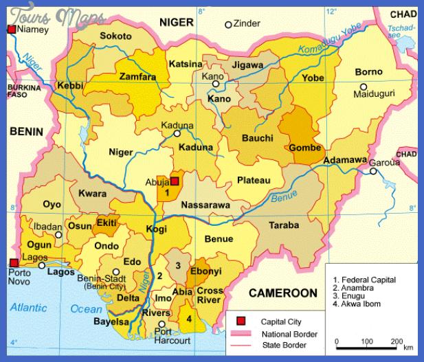 south Nigeria Metro Map