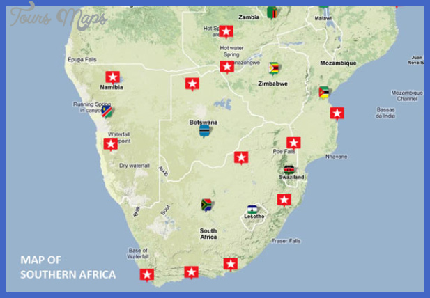 southernafricamap2 South Africa Map Tourist Attractions