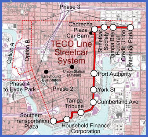 spui tampa teco Tampa Subway Map