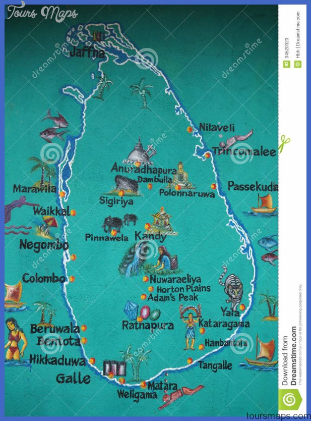 sri lanka map marked tourist attractions 34520323 Sri Lanka Map Tourist Attractions