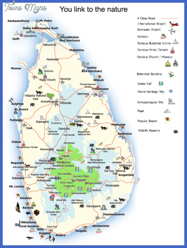 sri lanka map tourist attractions  15 Sri Lanka Map Tourist Attractions