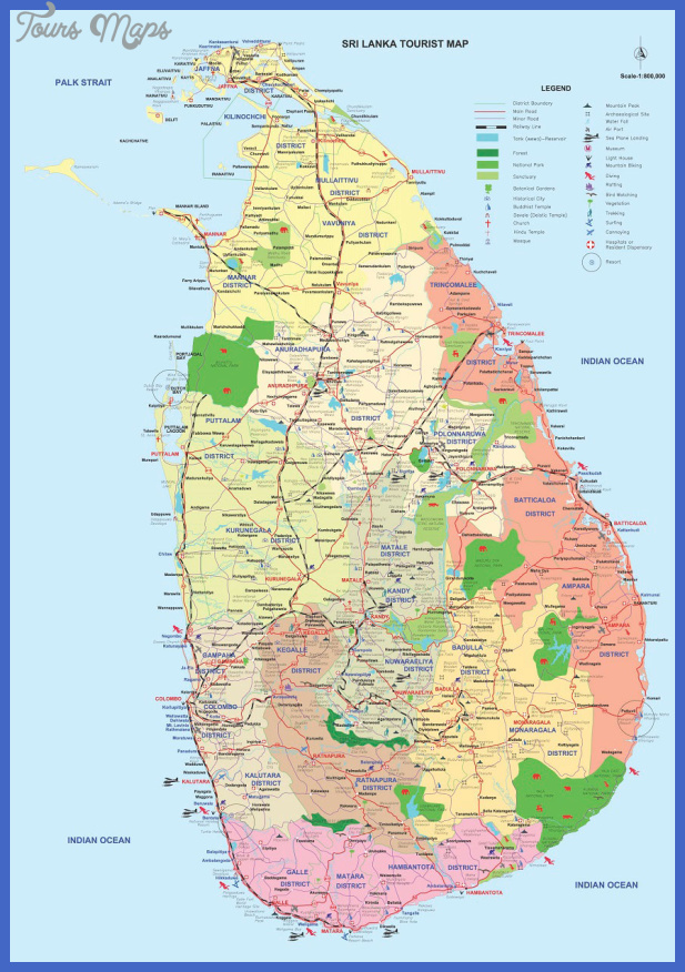 srilankamapthumb 1 Sri Lanka Map Tourist Attractions