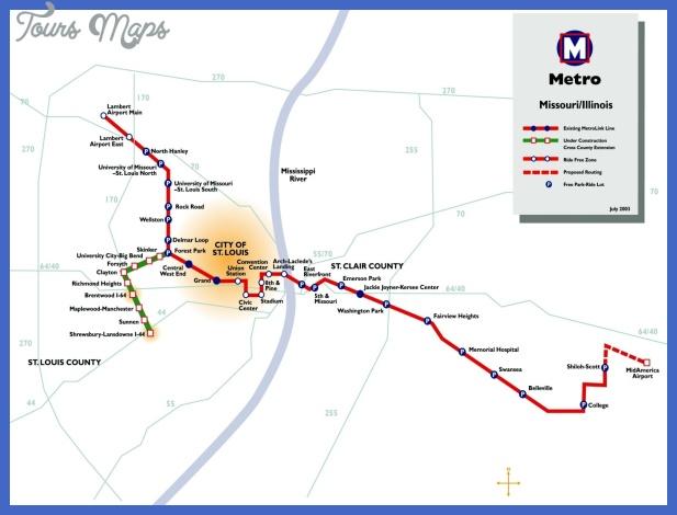 st louis subway map  1 St. Louis Subway Map
