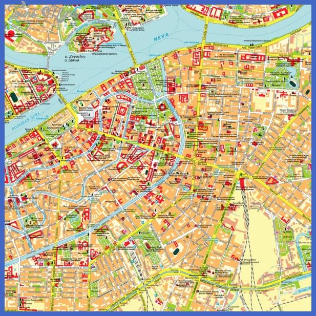 st petersburg map  1 St. Petersburg Map