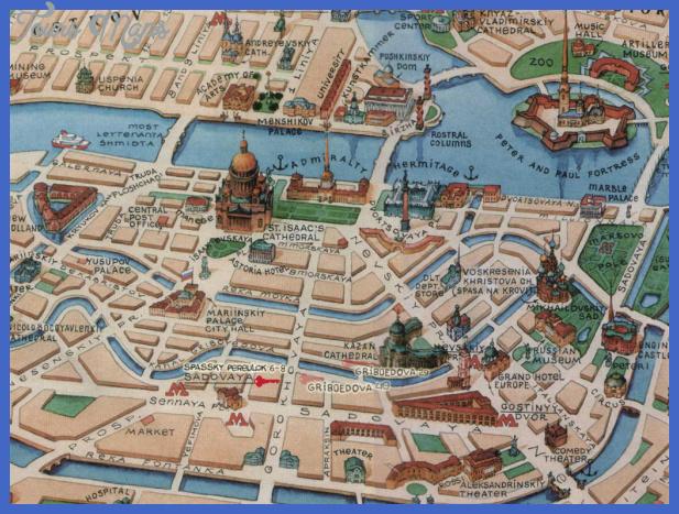 st petersburg map2 St. Petersburg Map