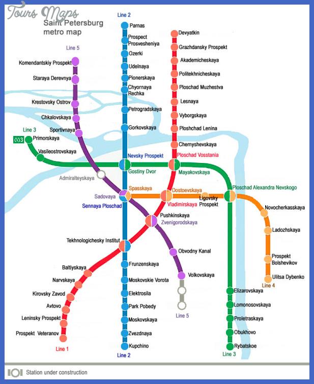 st petersburg metro map 1 St Petersburg Subway Map