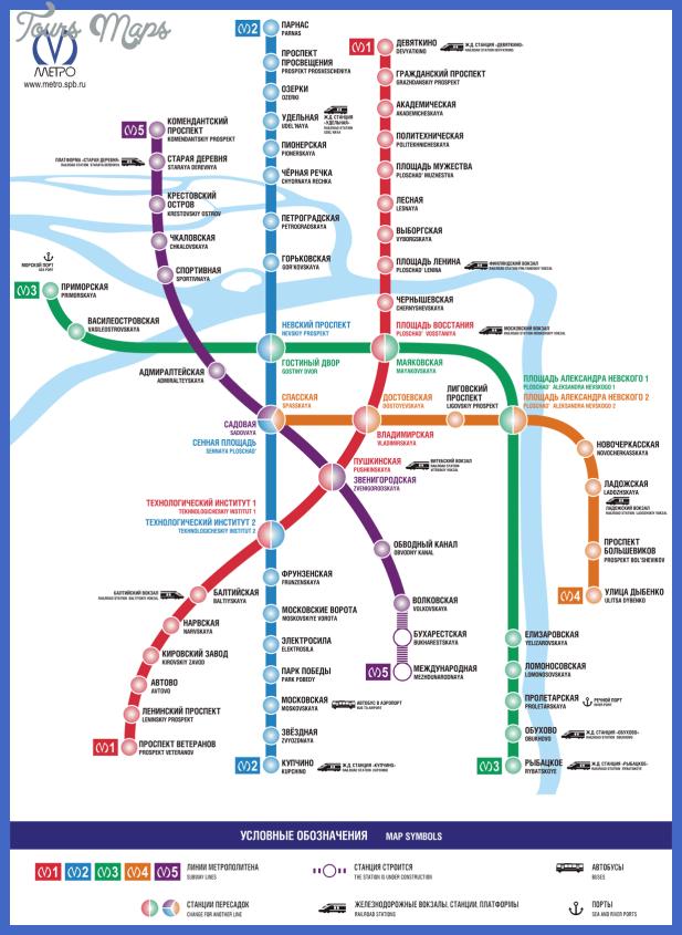 st petersburg metro map  3 St. Petersburg Metro Map