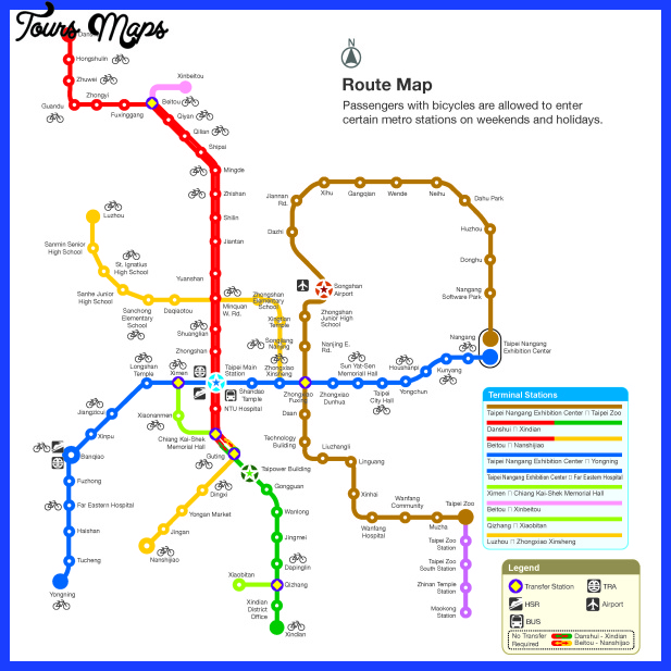 station map big Taipei Metro Map