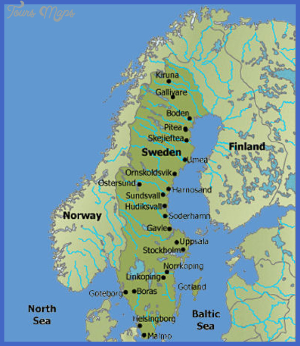 Sweden Map Map Travel Holiday Vacations - Sweden map