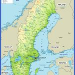 sweden physical map 150x150 Sweden Map
