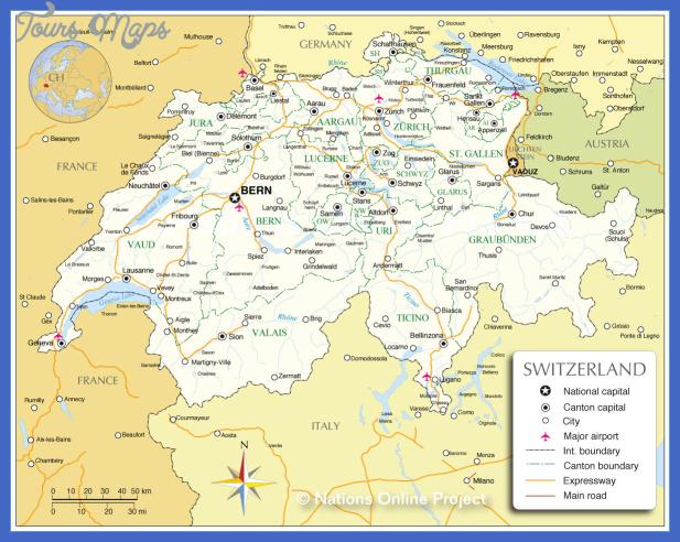 switzerland admin map Switzerland Subway Map