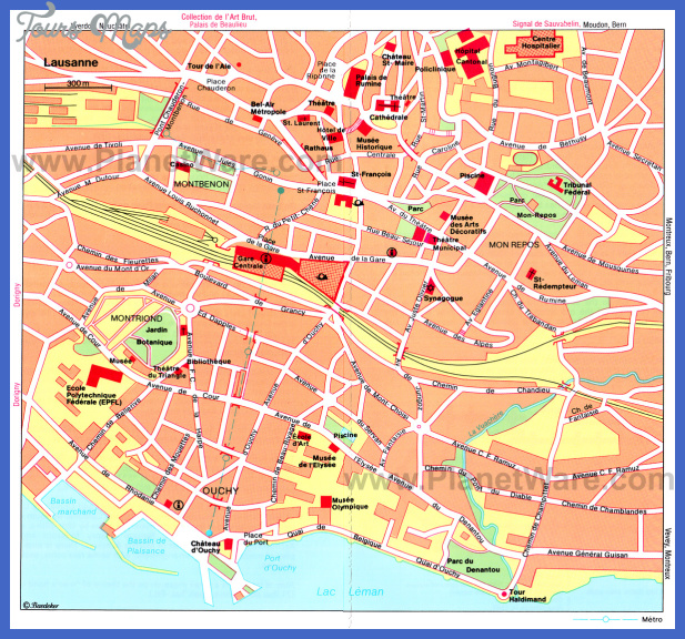 Switzerland Map Tourist Attractions ToursMapsCom – Tourist Attractions Map In Switzerland