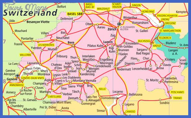 switzerland map Switzerland Metro Map