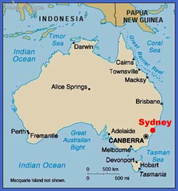 Sydney Map   ToursMaps.®