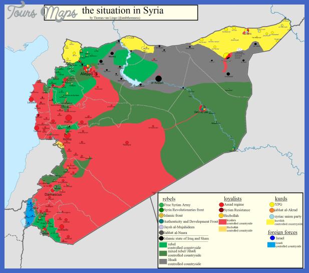 syria map  11 Syria Map