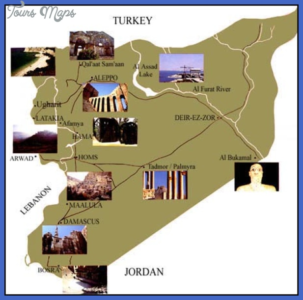 Syria Map Tourist Attractions Toursmaps Com