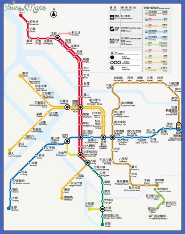 taipei metro map 001 Taiwan Subway Map