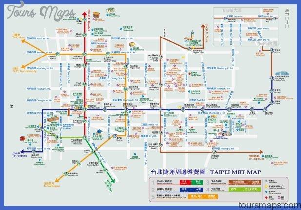 Subway Map Taipei.Taipei Metro Map Toursmaps Com