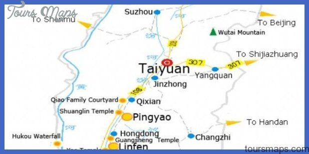 taiyuan map tourist attractions  3 Taiyuan Map Tourist Attractions