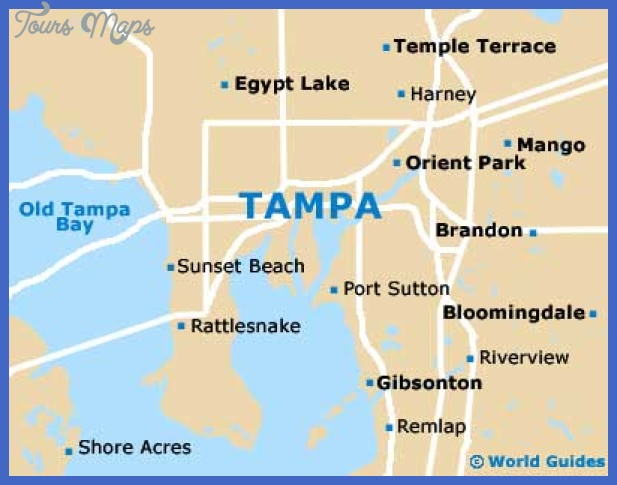 tampa map Tampa Map Tourist Attractions