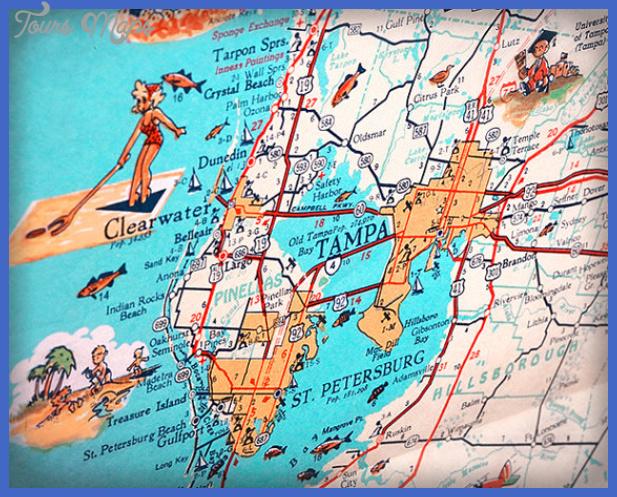 tampast petersburg map  10 Tampa St. Petersburg Map
