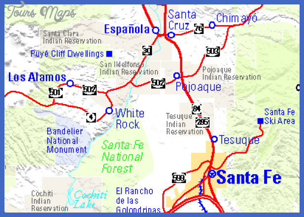 taosarea Mexico Map Tourist Attractions